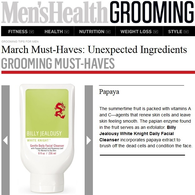 Billy Jealousy White Knight Gentle Daily Facial Cleanser featured in Men's Health